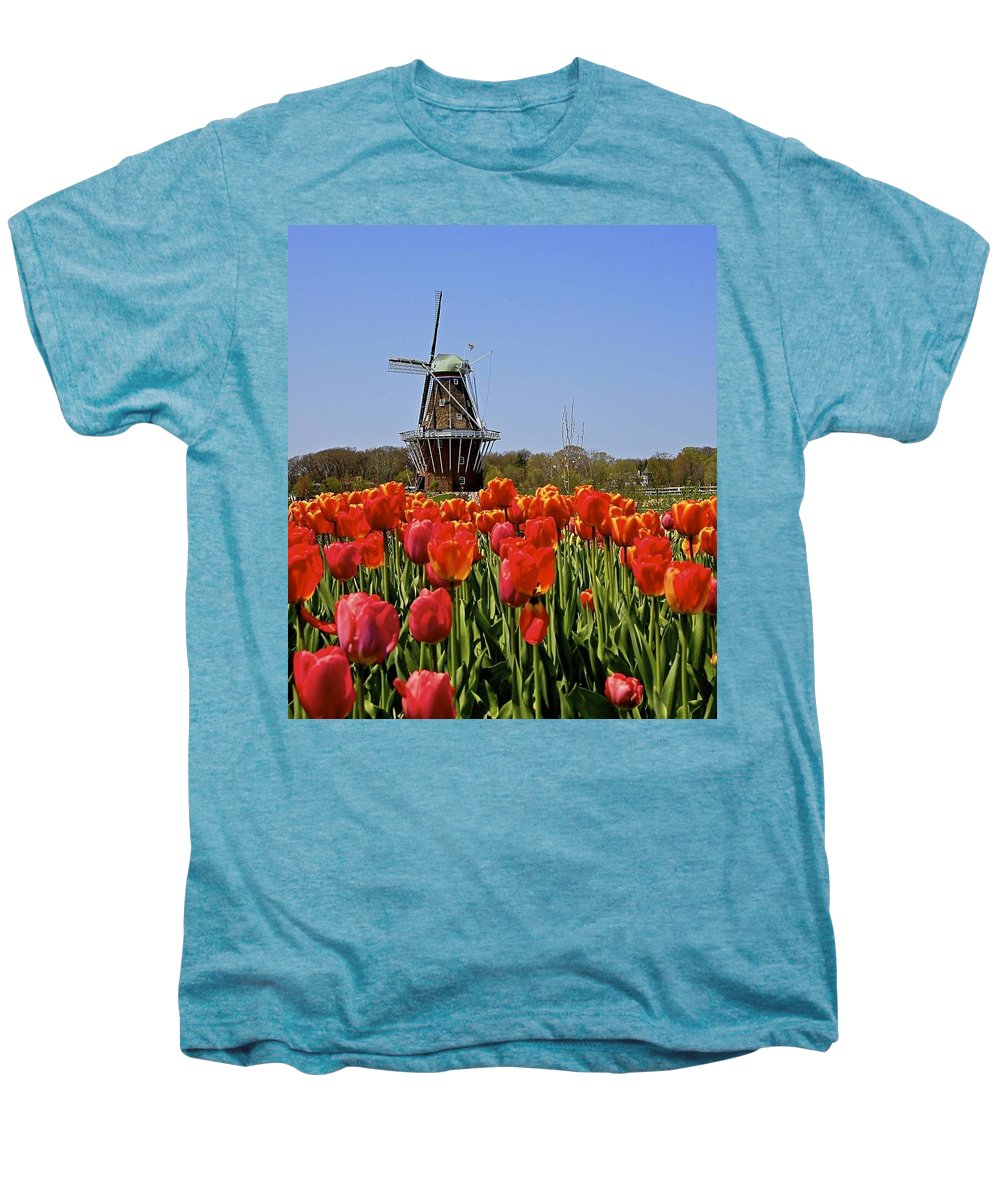 Tulips Men's Premium T-Shirt featuring the photograph Two Lips by Robert Pearson