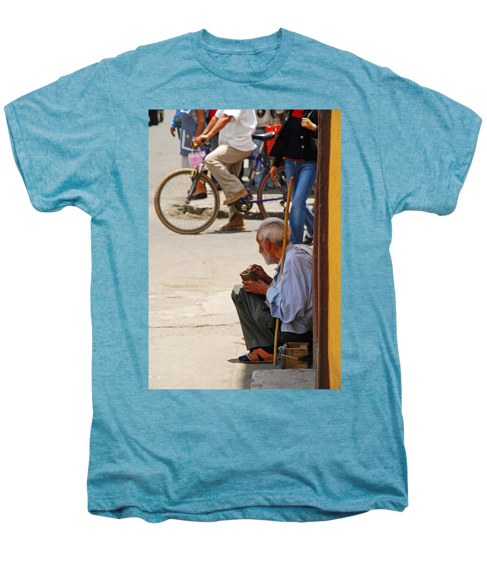 Beggar Men's Premium T-Shirt featuring the photograph Un Peso Por Favor by Skip Hunt