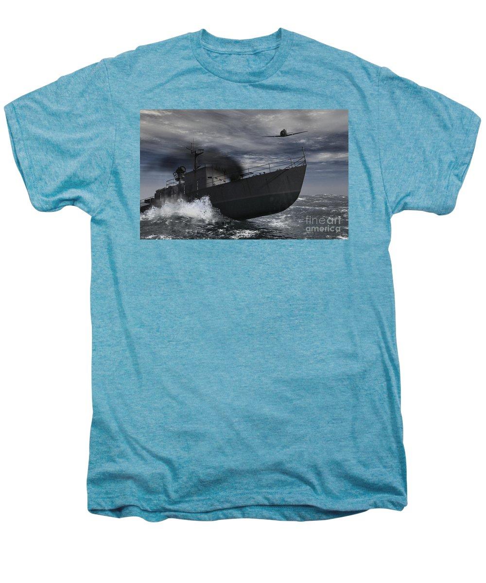 War Men's Premium T-Shirt featuring the digital art Under Attack by Richard Rizzo