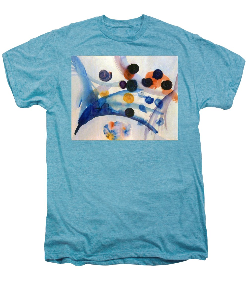 Abstract Men's Premium T-Shirt featuring the painting Under The Sea by Steve Karol