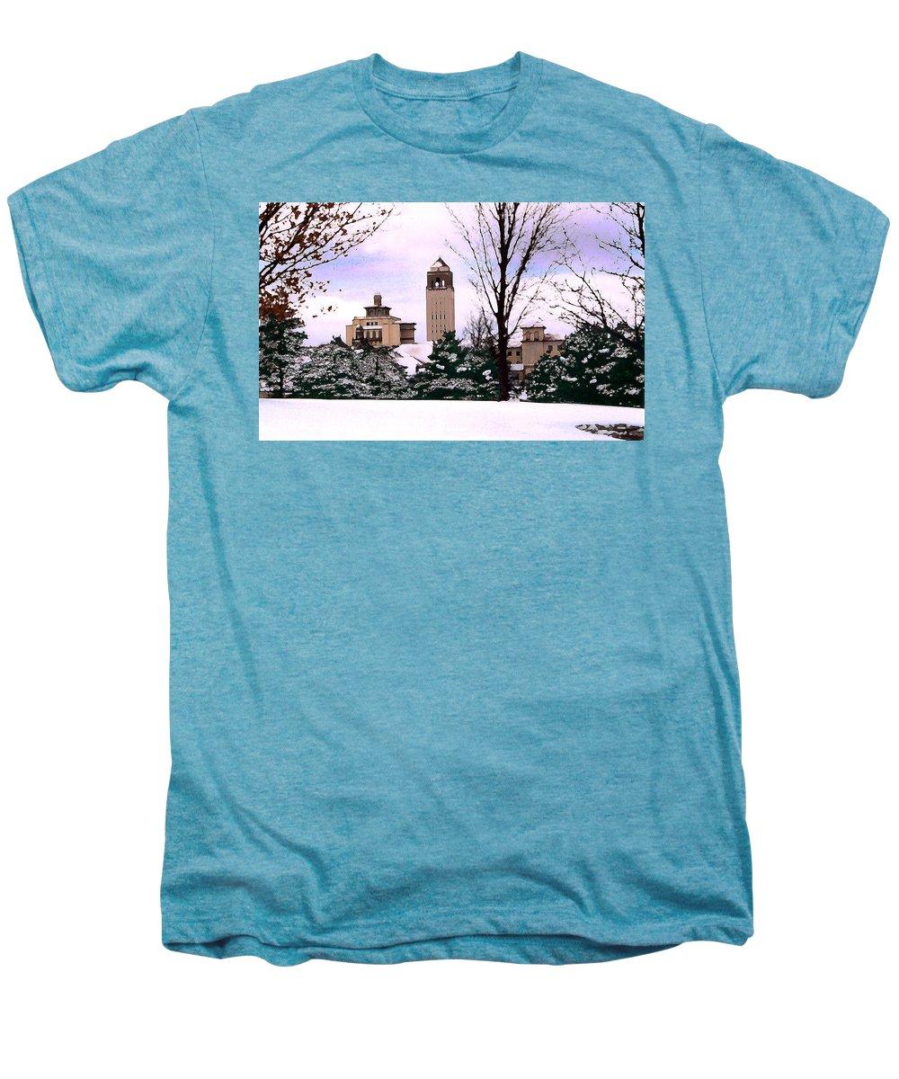 Landscape Men's Premium T-Shirt featuring the photograph Unity Village by Steve Karol