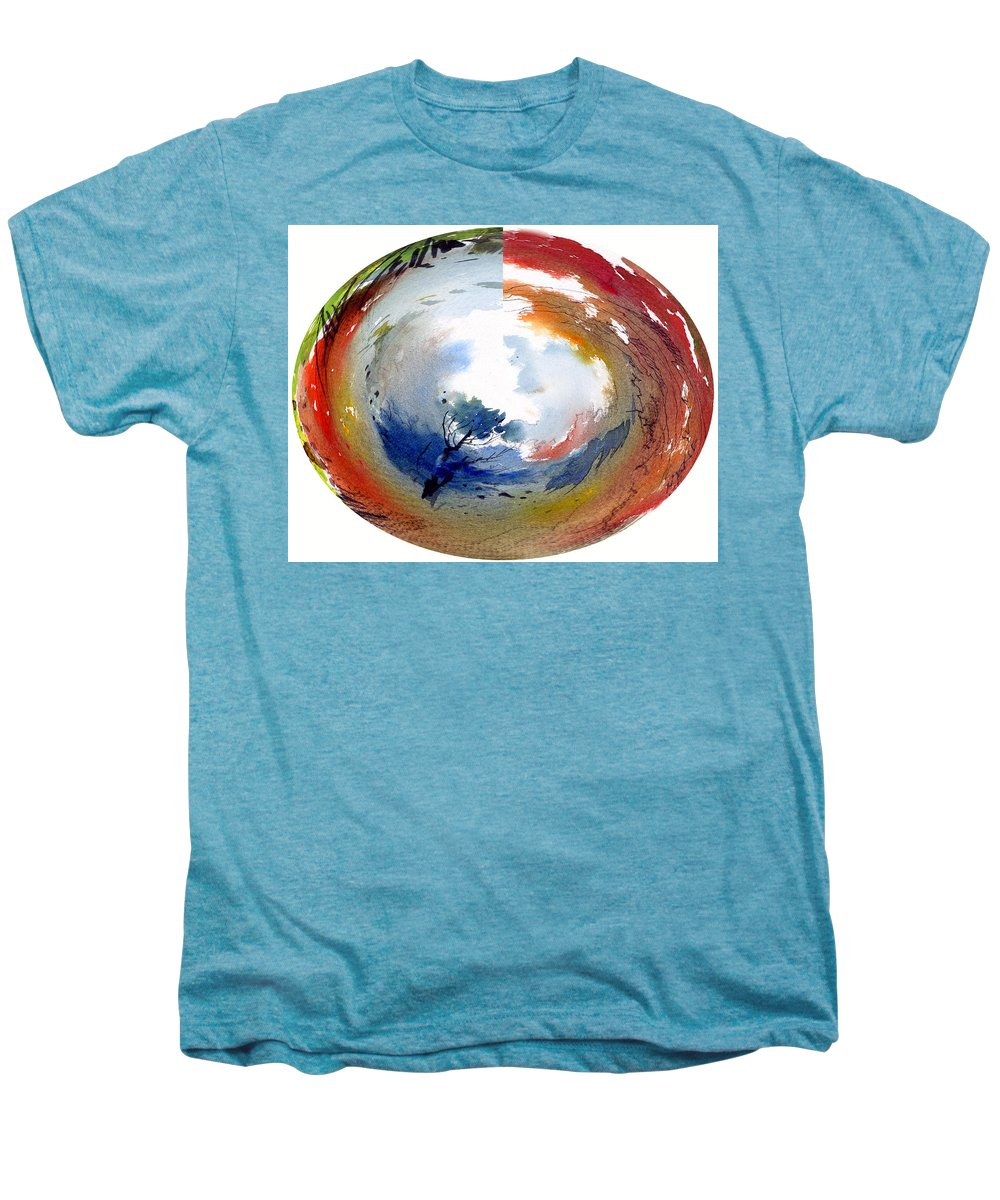Landscape Water Color Watercolor Digital Mixed Media Men's Premium T-Shirt featuring the painting Universe by Anil Nene