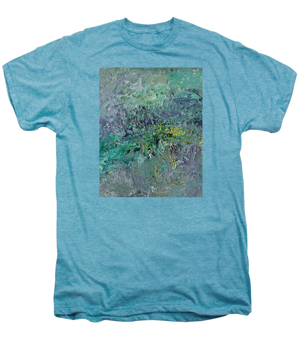 Fusionart Men's Premium T-Shirt featuring the painting Blind Giverny by Ralph White