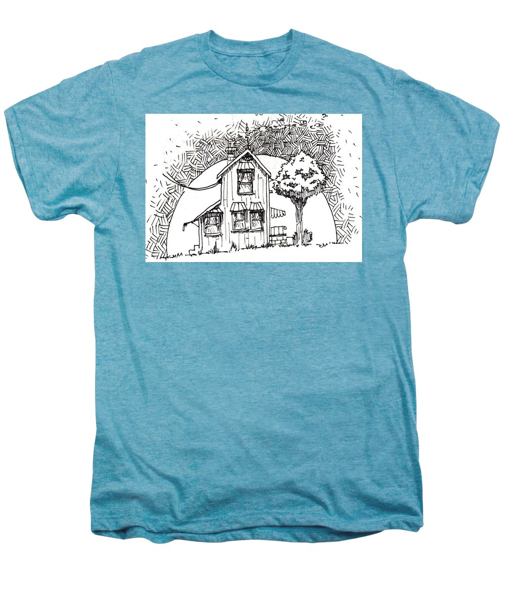 House Men's Premium T-Shirt featuring the drawing Untitled by Tobey Anderson