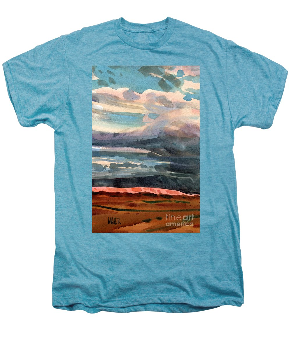 Western Landscape Men's Premium T-Shirt featuring the painting Utah Skyline by Donald Maier