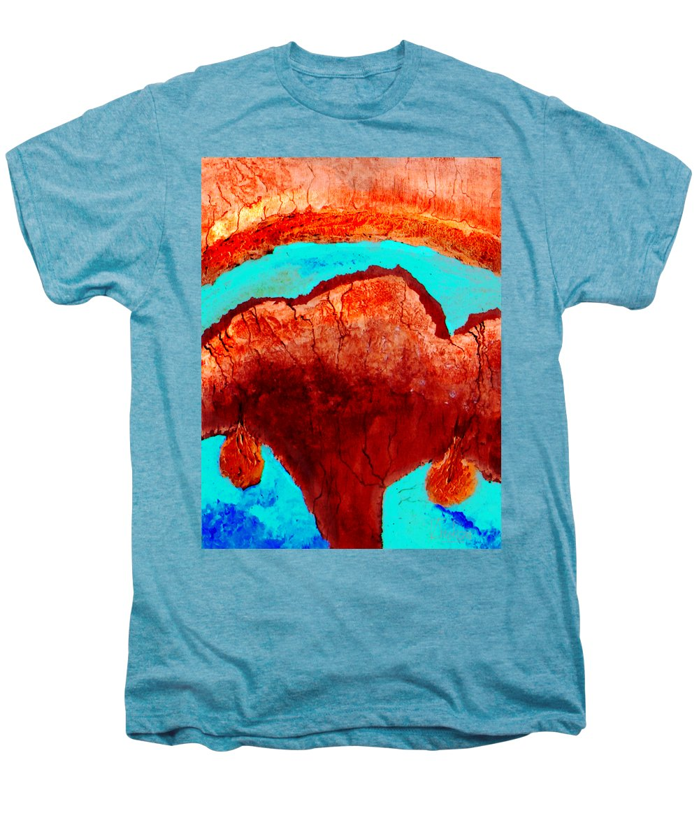 Color Men's Premium T-Shirt featuring the painting Uterus by Veronica Jackson