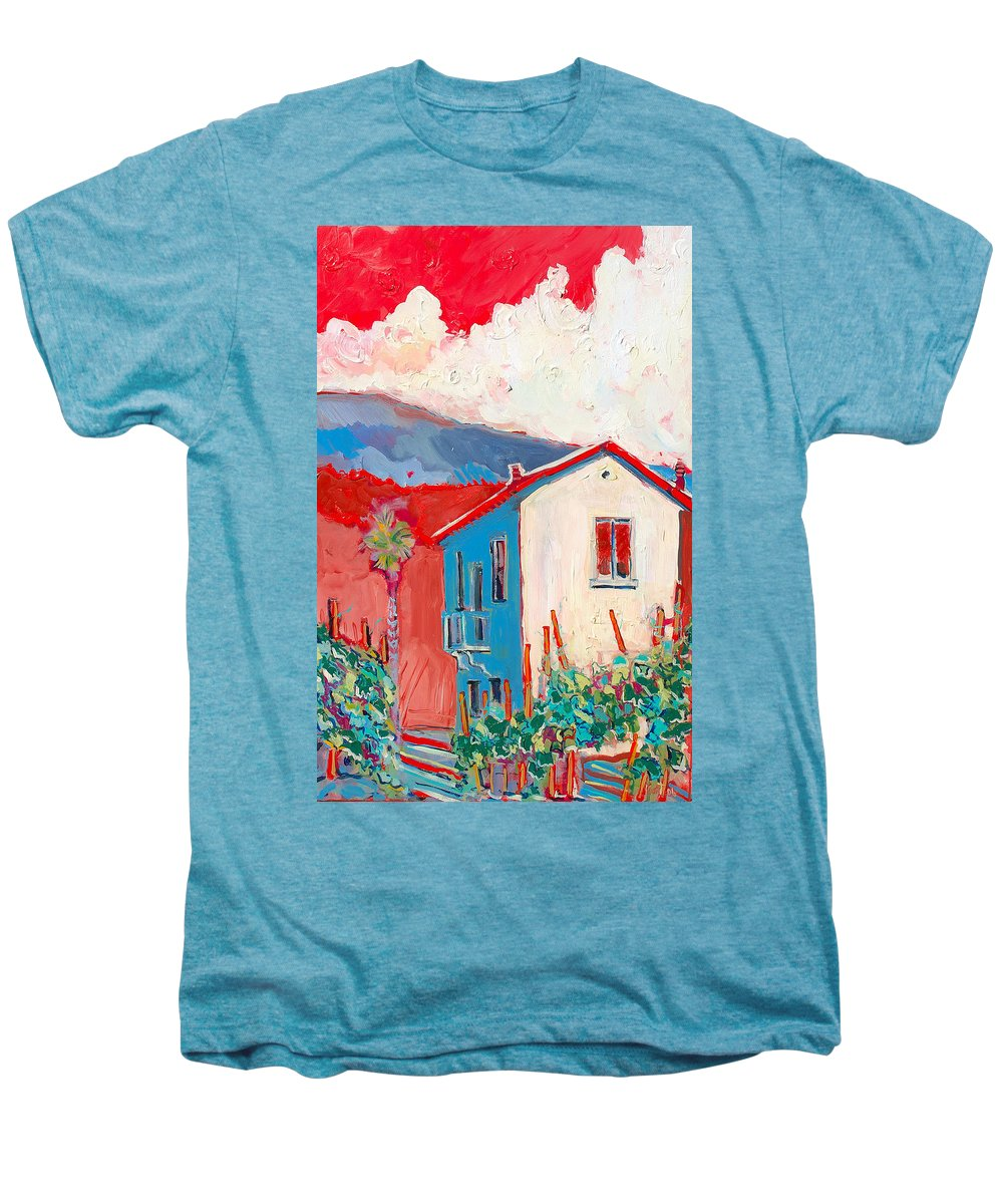 Tuscany Men's Premium T-Shirt featuring the painting Vecchio Casa by Kurt Hausmann