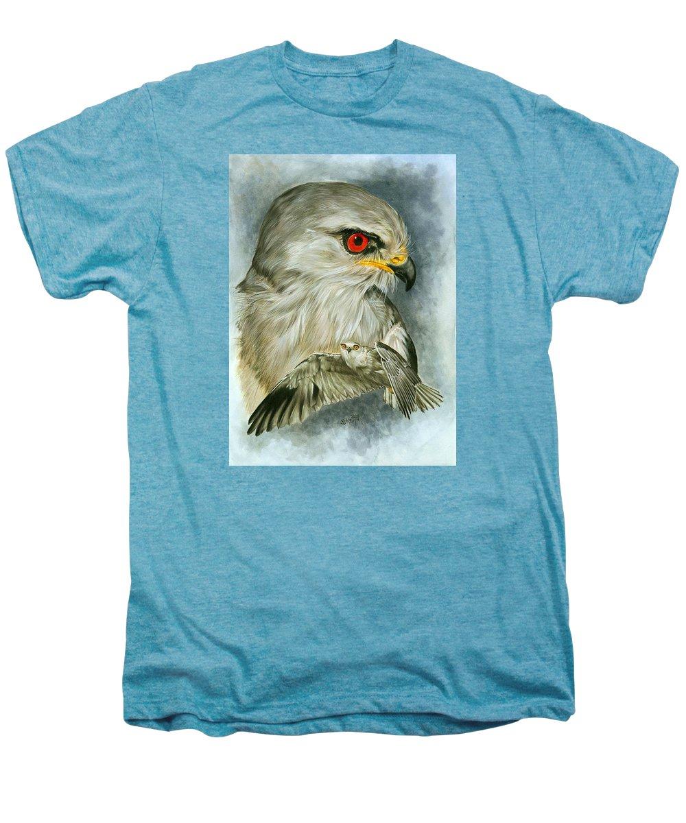 Kite Men's Premium T-Shirt featuring the mixed media Velocity by Barbara Keith