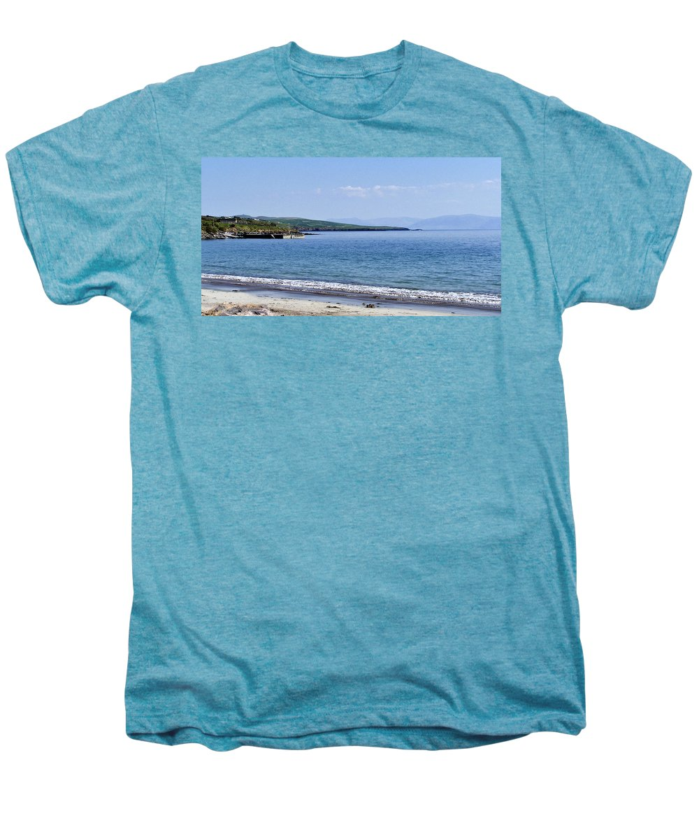 Irish Men's Premium T-Shirt featuring the photograph Ventry Harbor On The Dingle Peninsula Ireland by Teresa Mucha