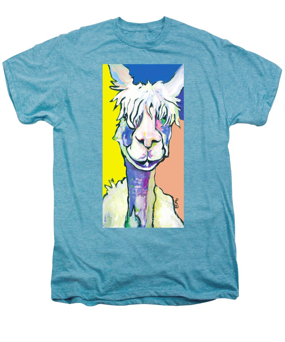 Mountain Animal Men's Premium T-Shirt featuring the painting Veronica by Pat Saunders-White