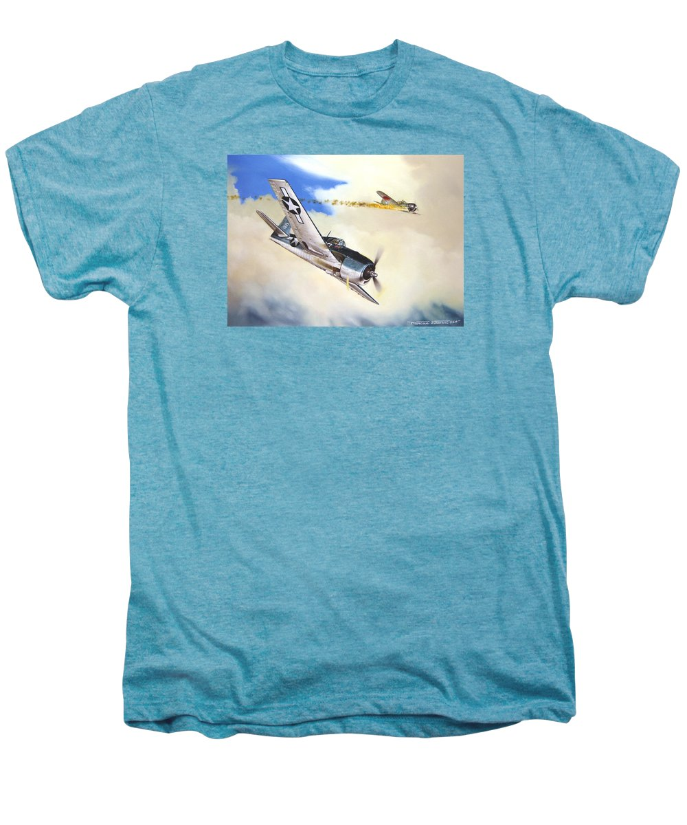 Military Men's Premium T-Shirt featuring the painting Victory For Vraciu by Marc Stewart