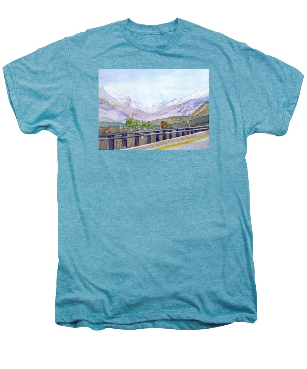 Franconia Notch Men's Premium T-Shirt featuring the painting View Of Franconia Notch by Sharon E Allen