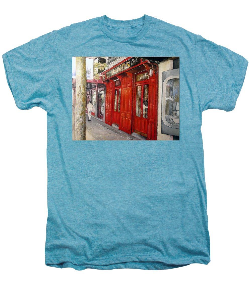Urban Men's Premium T-Shirt featuring the painting Vinos Sagasta by Tomas Castano