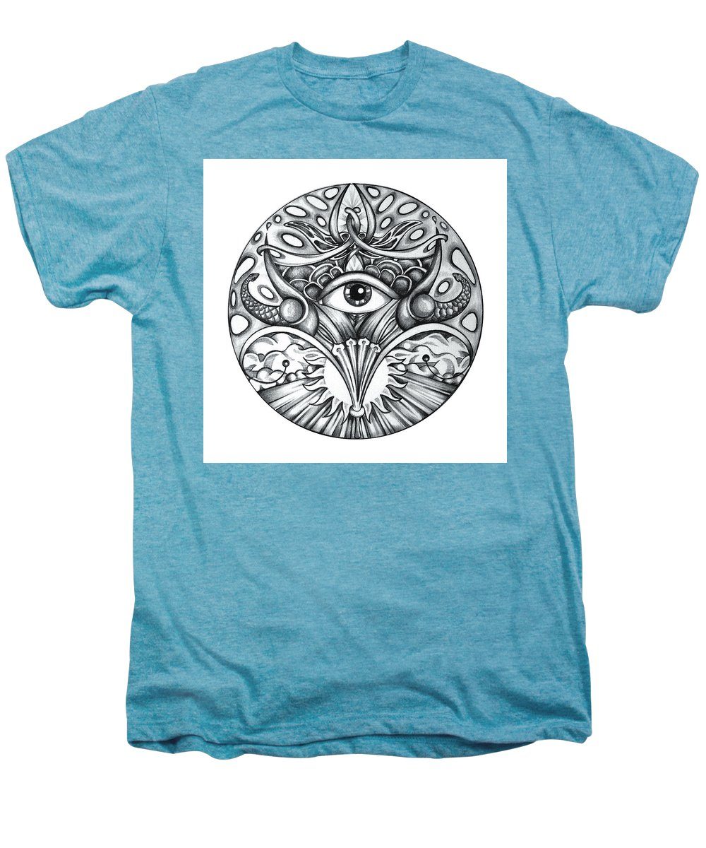 Eye Men's Premium T-Shirt featuring the drawing Vision by Shadia Derbyshire