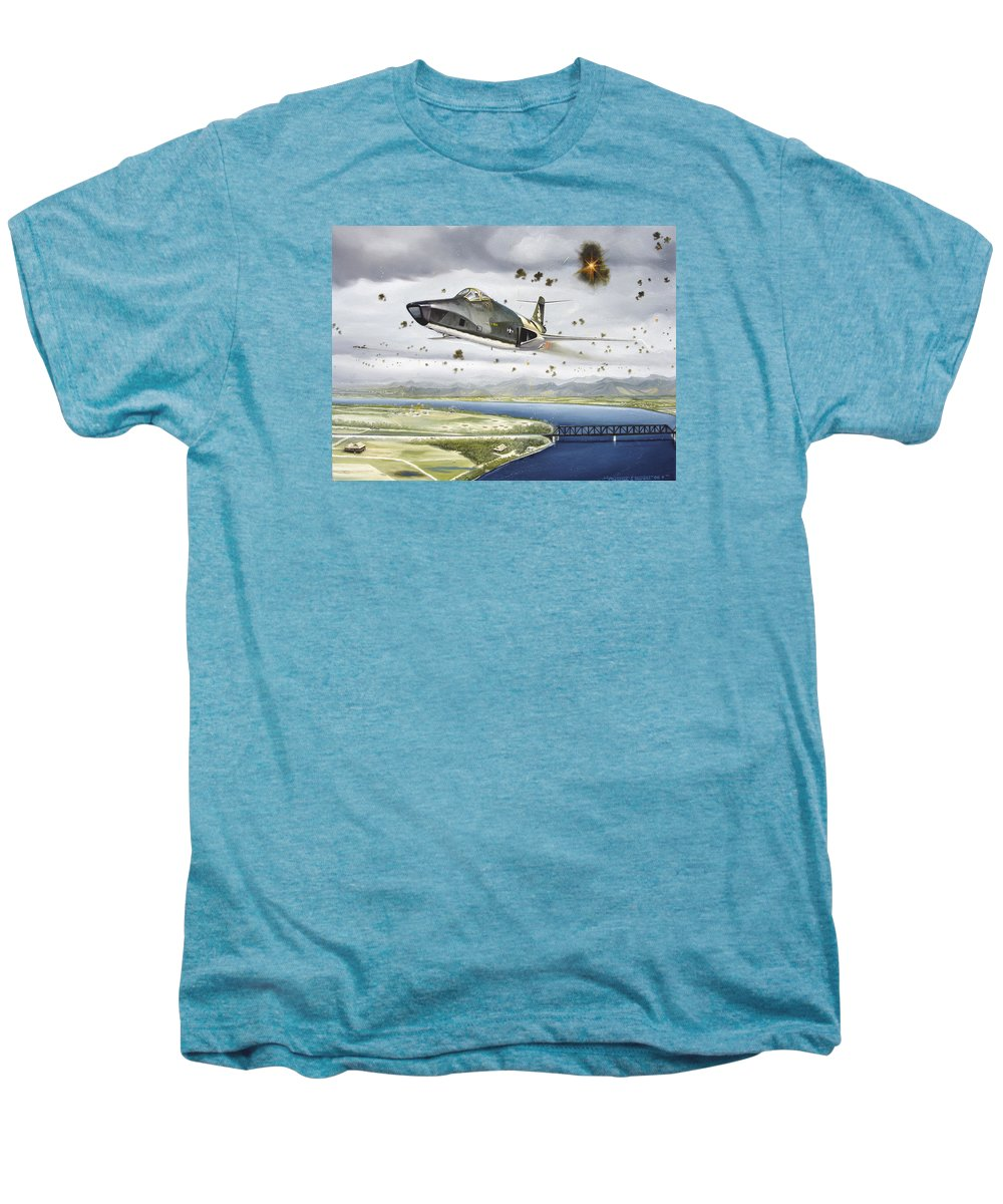 Military Men's Premium T-Shirt featuring the painting Voodoo Vs The Dragon by Marc Stewart