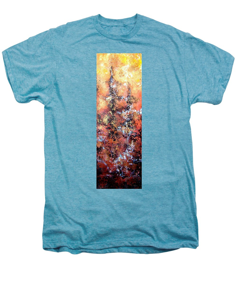 Tile Men's Premium T-Shirt featuring the painting Wait For Sleep by Shadia Derbyshire