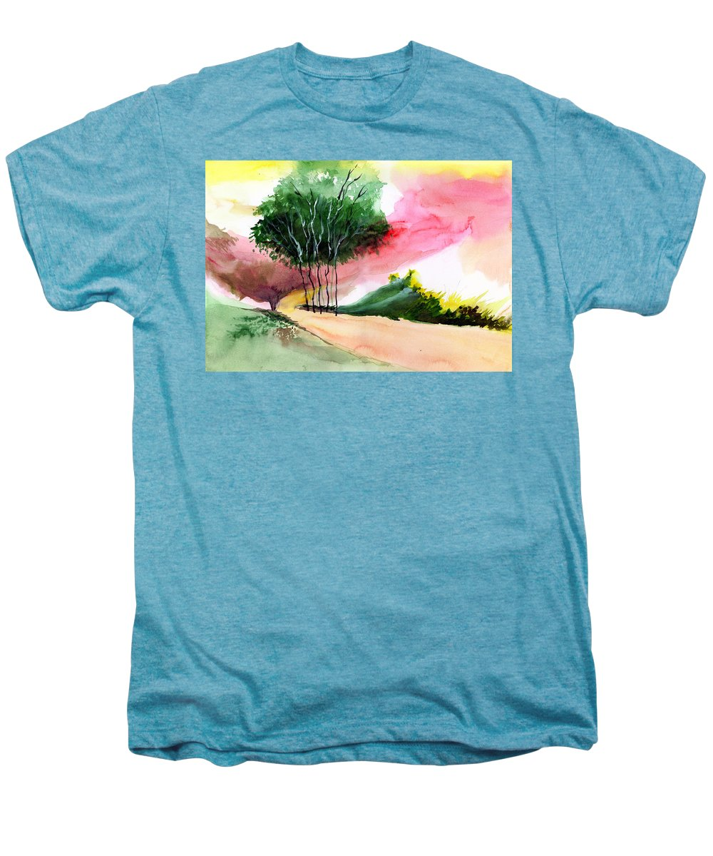 Watercolor Men's Premium T-Shirt featuring the painting Walk Away by Anil Nene