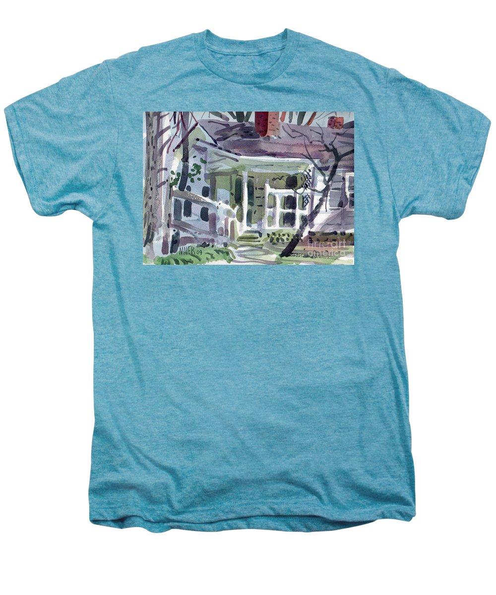 Wallis House Men's Premium T-Shirt featuring the painting Wallis House by Donald Maier