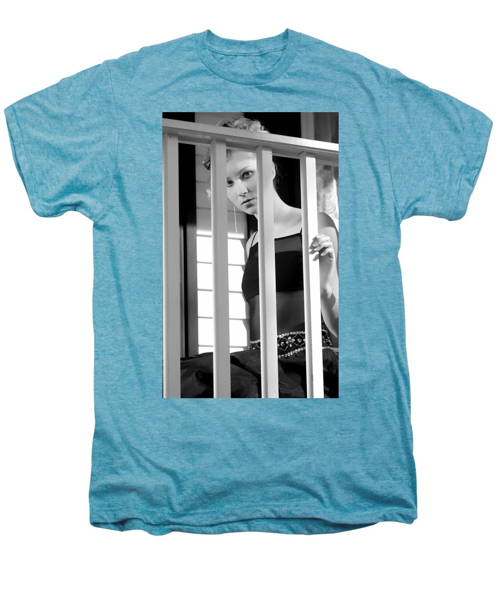 Clay Men's Premium T-Shirt featuring the photograph Watching by Clayton Bruster