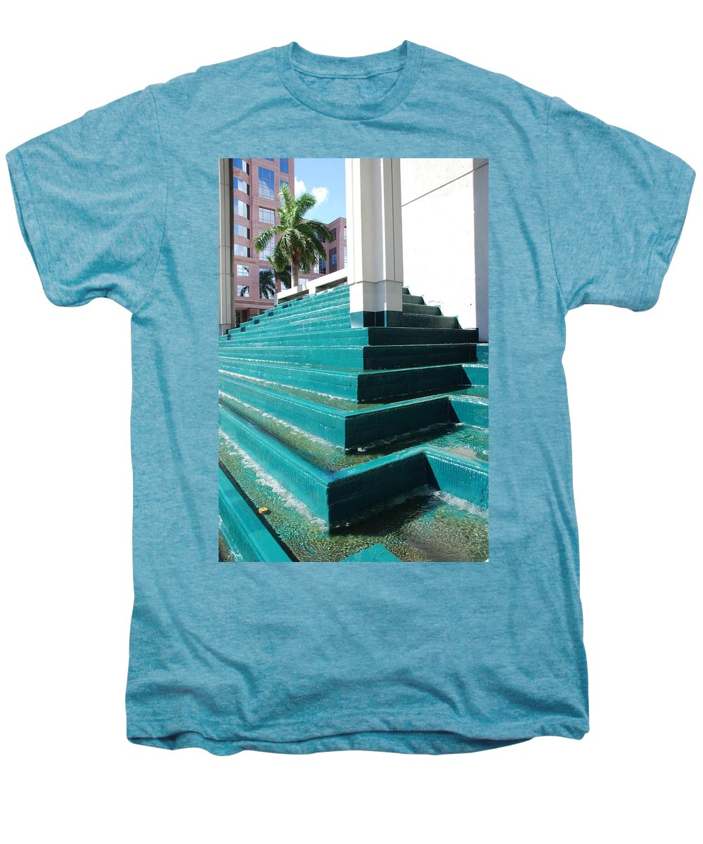 Architecture Men's Premium T-Shirt featuring the photograph Water At The Federl Courthouse by Rob Hans