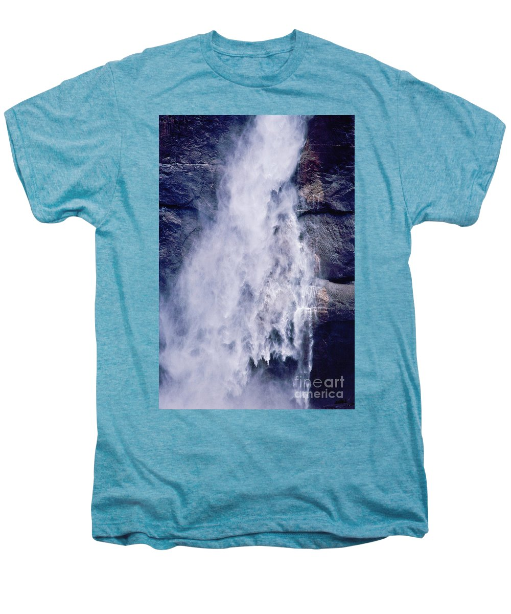 Waterfall Men's Premium T-Shirt featuring the photograph Water Drops by Kathy McClure