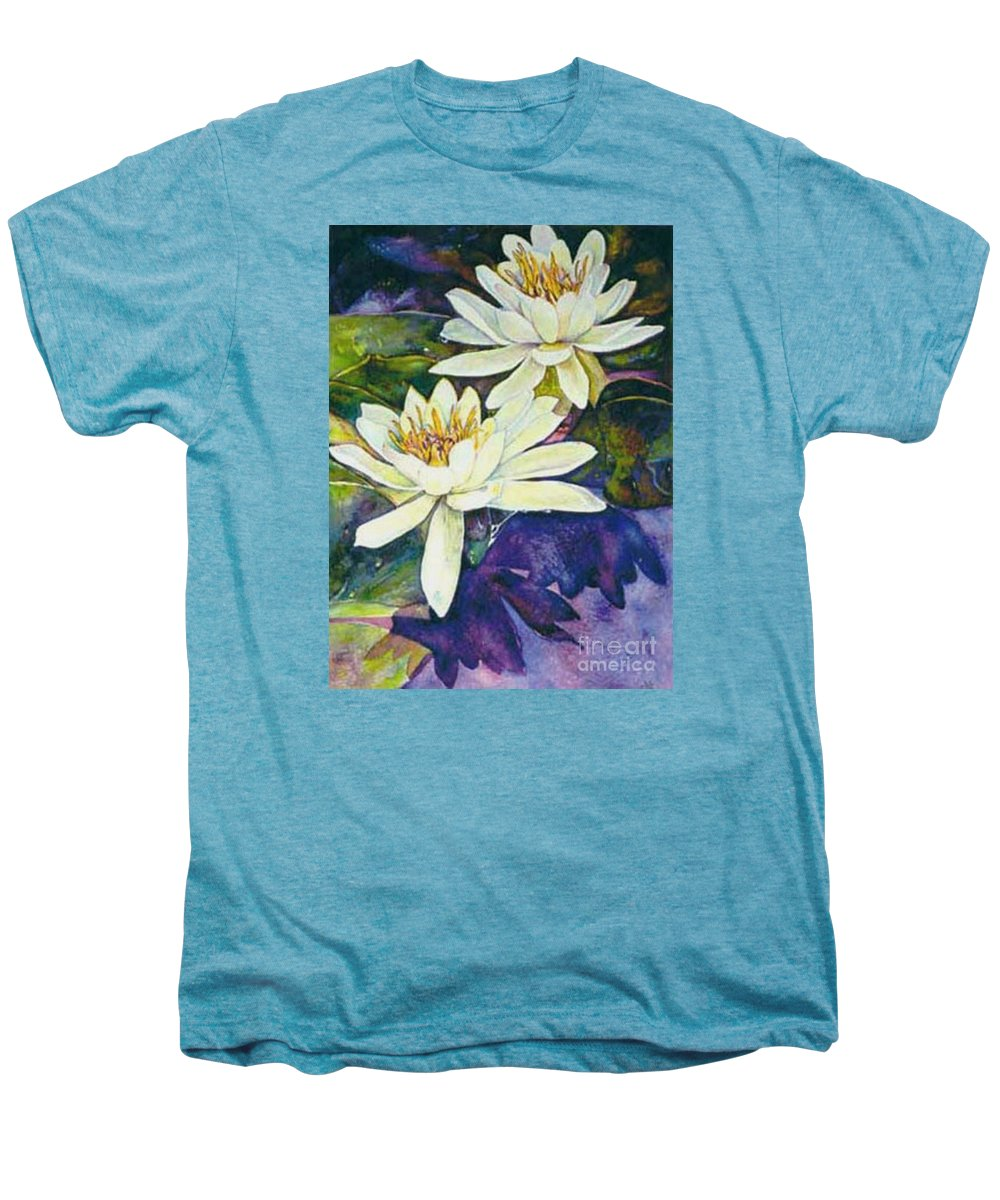 Flower Men's Premium T-Shirt featuring the painting Water Lilies by Norma Boeckler