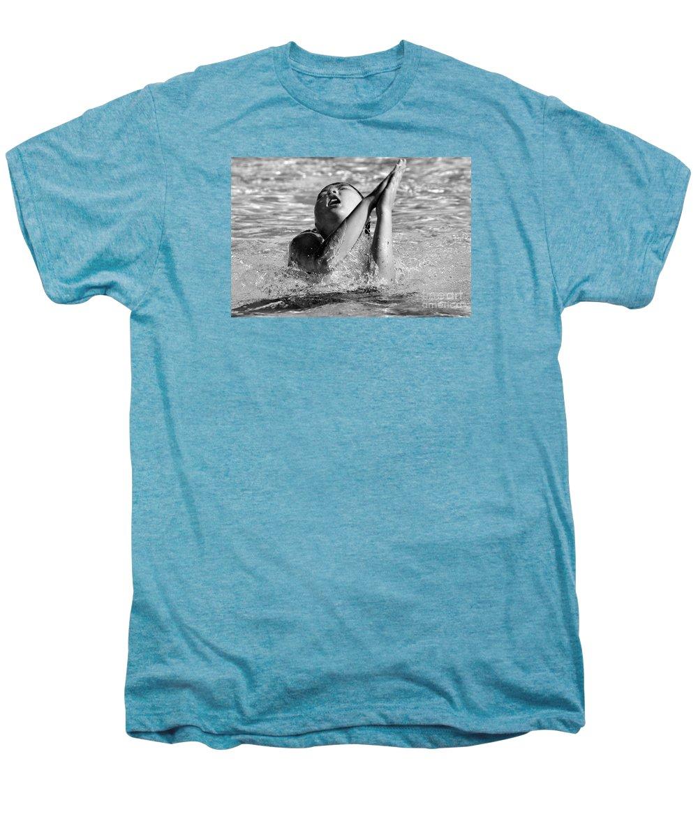 People Men's Premium T-Shirt featuring the photograph Water Prayer 2009 by Michael Ziegler