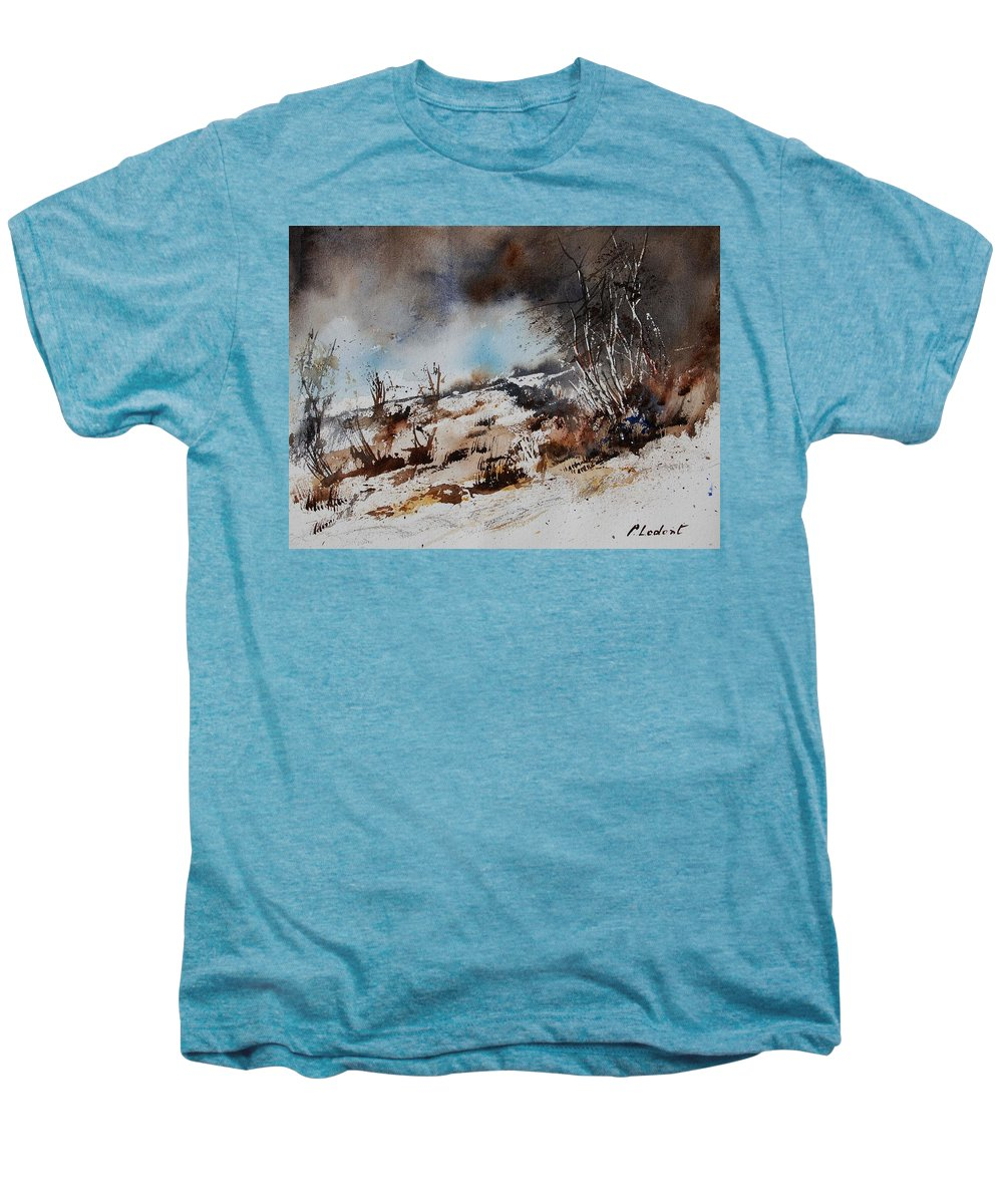 River Men's Premium T-Shirt featuring the painting Watercolor Jjook by Pol Ledent