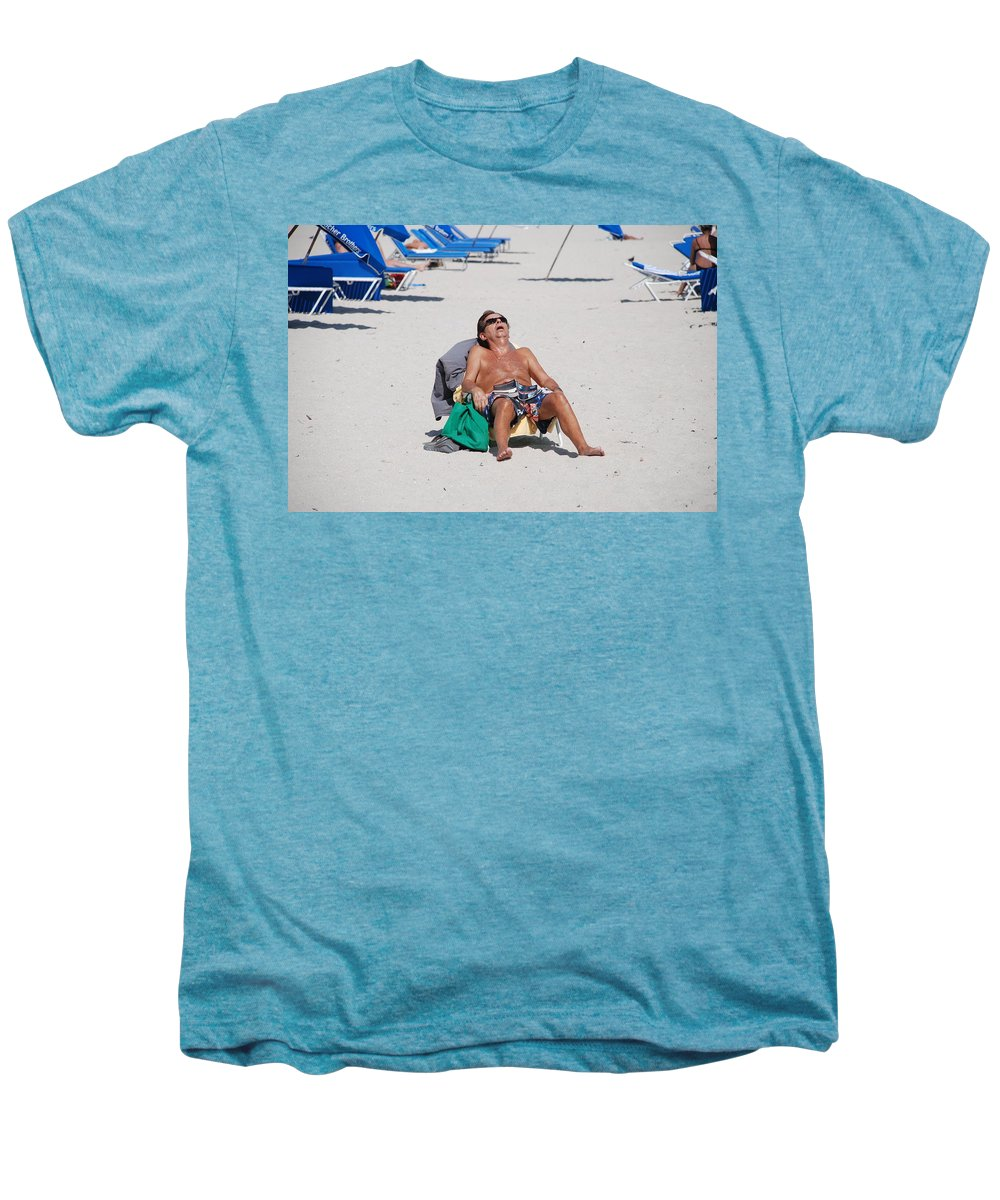 Beach Men's Premium T-Shirt featuring the photograph Weekend At Bernies by Rob Hans
