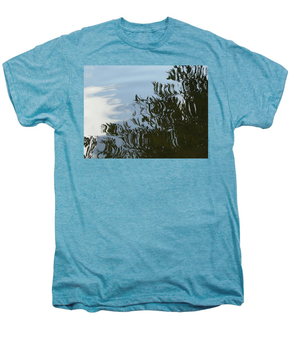 Tree Men's Premium T-Shirt featuring the photograph Weeping Willow Reflection by Valerie Ornstein