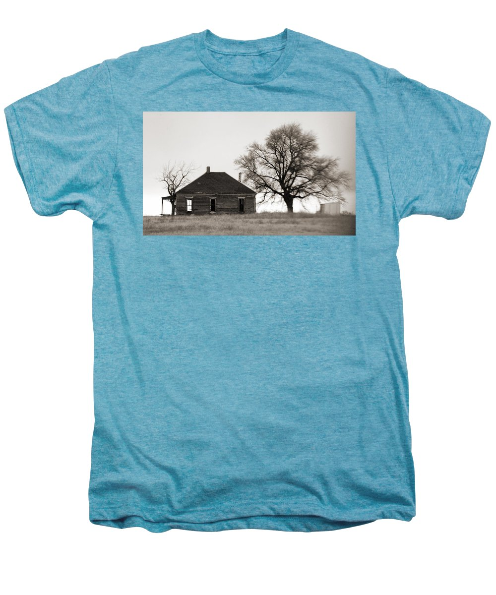 Texas Men's Premium T-Shirt featuring the photograph West Texas Winter by Marilyn Hunt