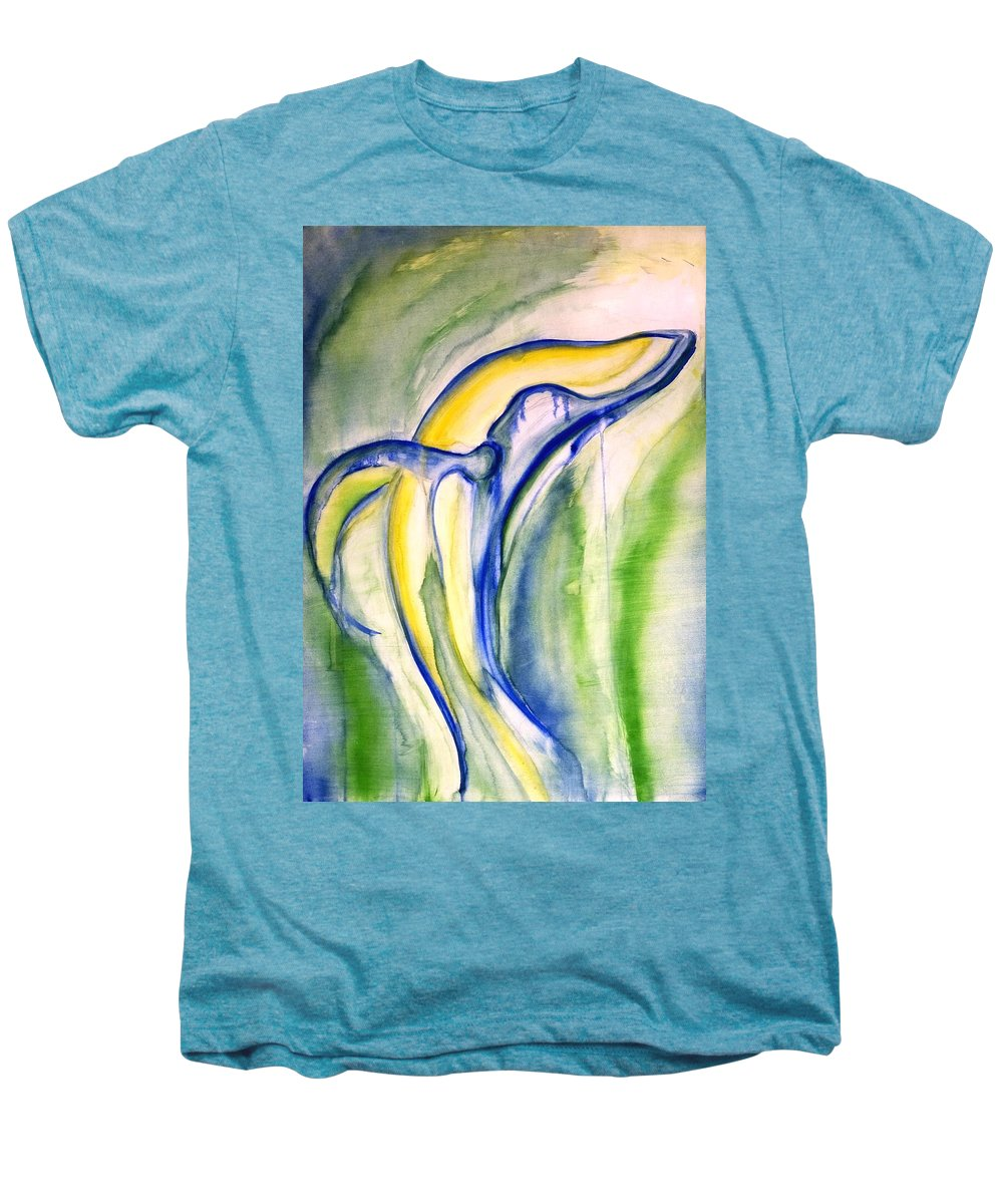 Watercolor Men's Premium T-Shirt featuring the painting Whale by Sheridan Furrer