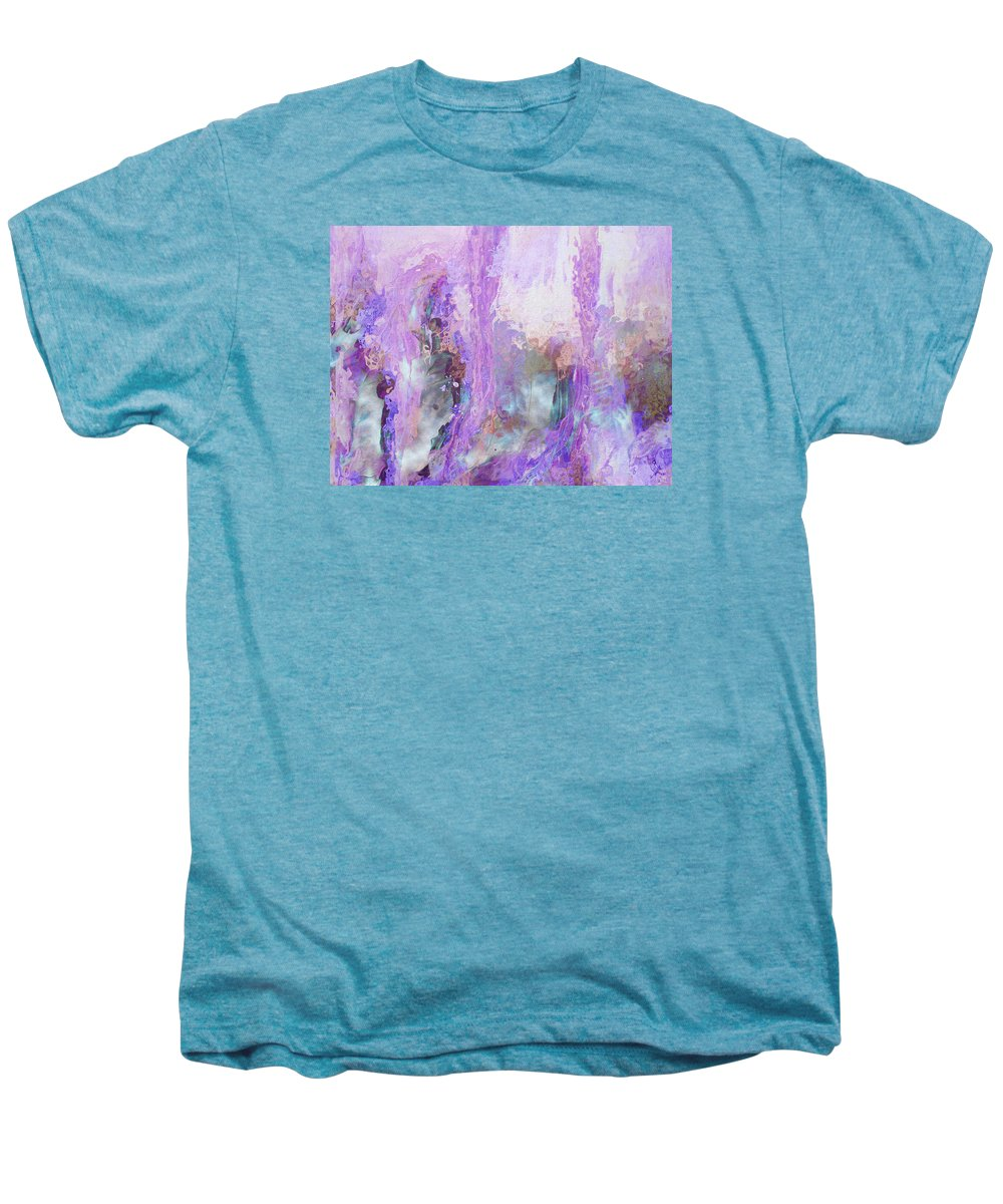 Abstract Art Men's Premium T-Shirt featuring the digital art Whisper Softly by Linda Murphy