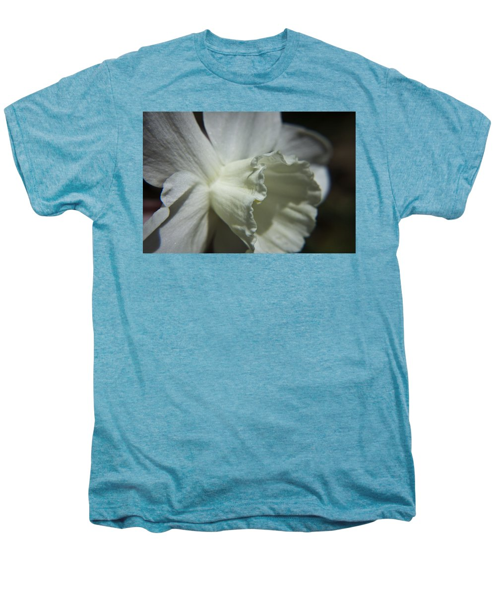 Flower Men's Premium T-Shirt featuring the photograph White Daffodil by Teresa Mucha