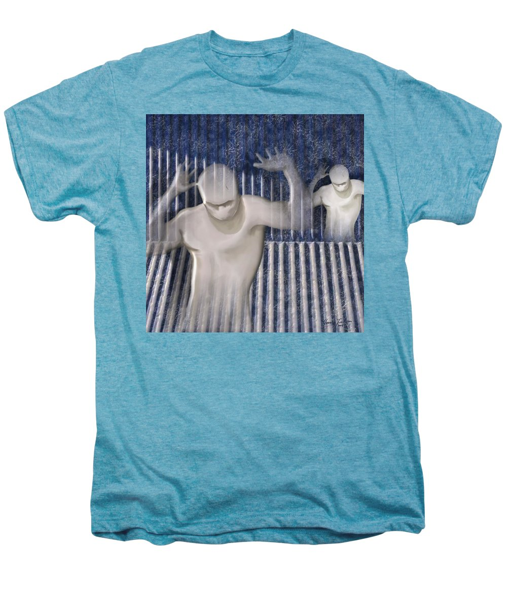 Drugs Prison Waste Fear Hell Men's Premium T-Shirt featuring the mixed media White Lines by Veronica Jackson
