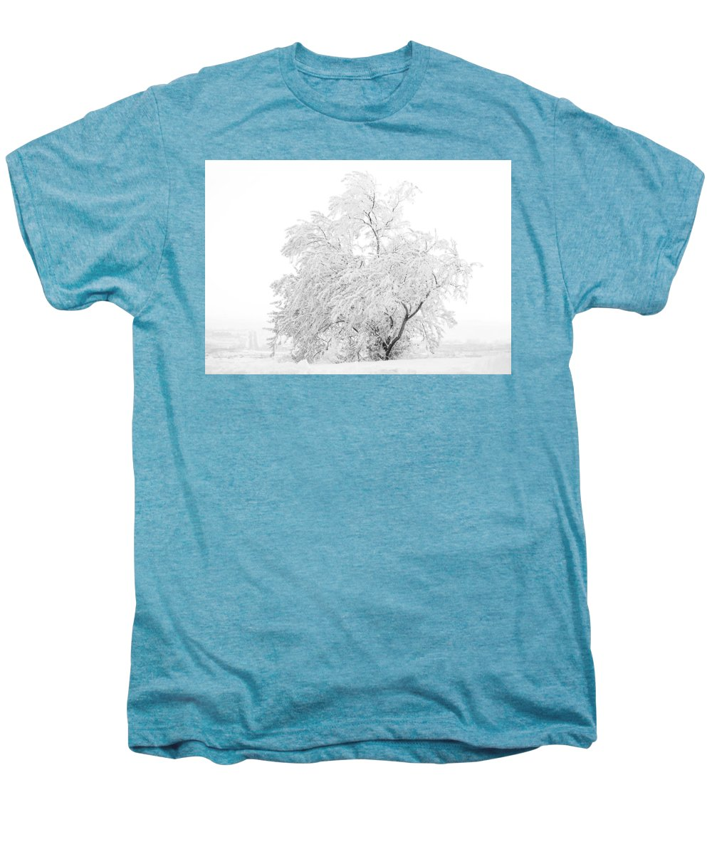 Snow Men's Premium T-Shirt featuring the photograph White On White by Marilyn Hunt