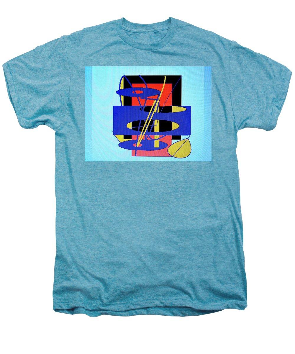 Abstract Men's Premium T-Shirt featuring the digital art Widget World by Ian MacDonald