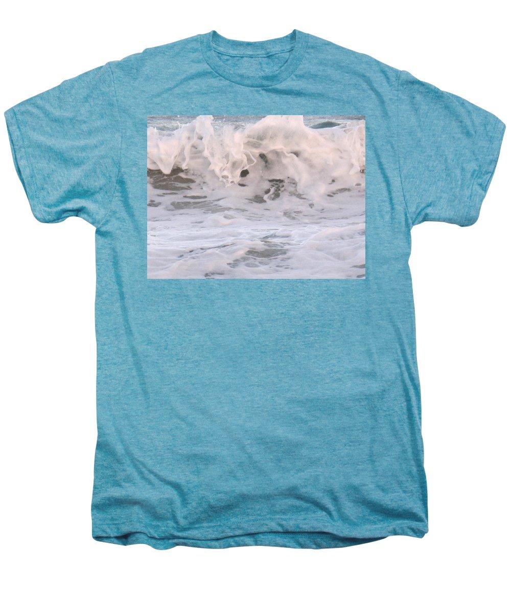 Surf Men's Premium T-Shirt featuring the photograph Wild Surf by Ian MacDonald