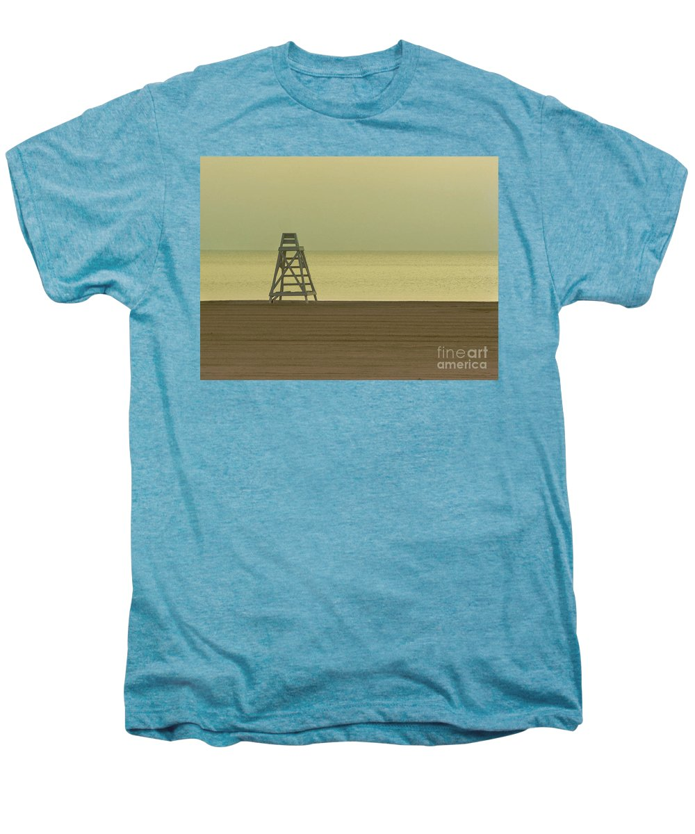 Beach Men's Premium T-Shirt featuring the photograph Will You Lay Here With Me And Just Forget The World by Dana DiPasquale