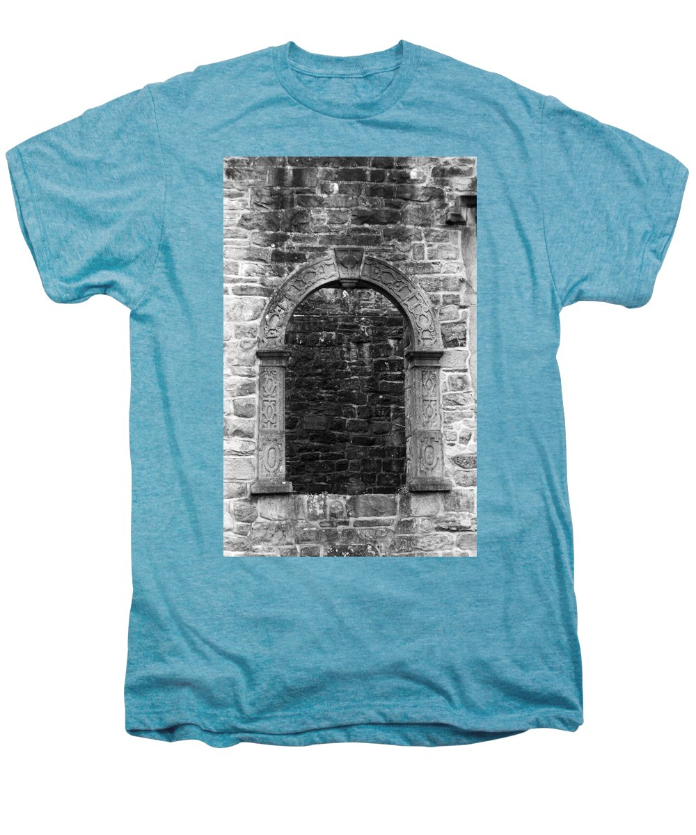 Irish Men's Premium T-Shirt featuring the photograph Window At Donegal Castle Ireland by Teresa Mucha