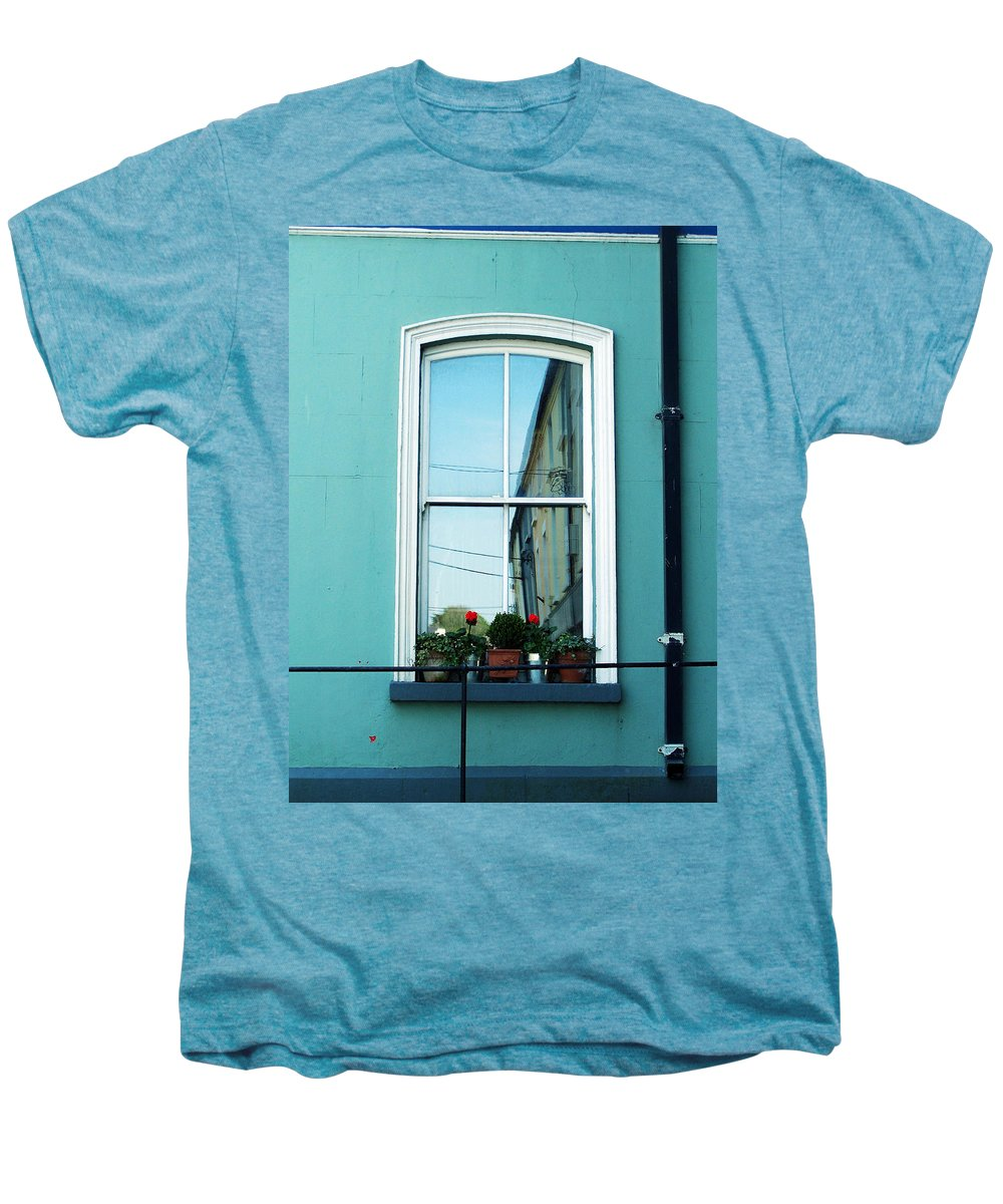 Irish Men's Premium T-Shirt featuring the photograph Window In Ennistymon Ireland by Teresa Mucha
