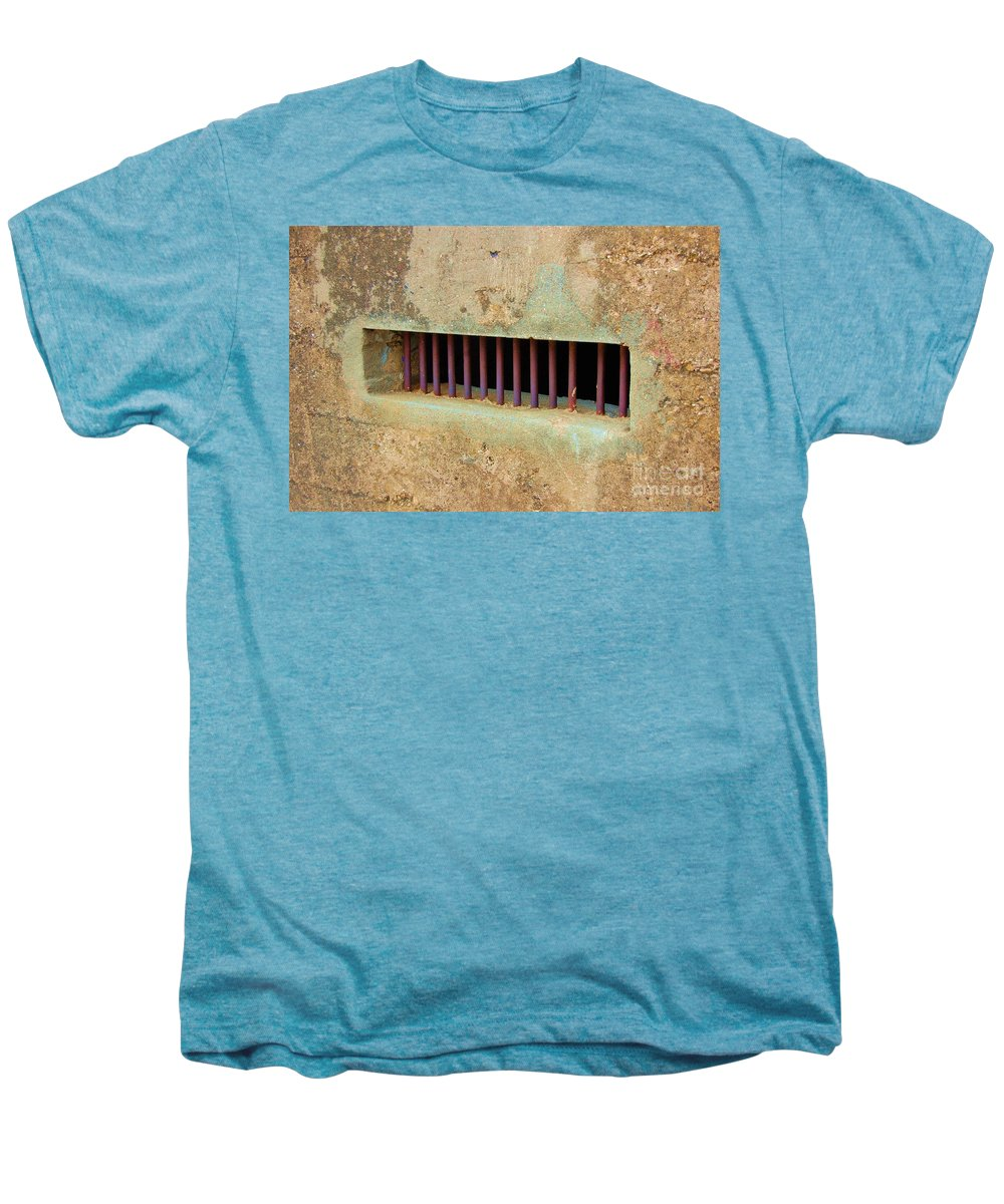 Jail Men's Premium T-Shirt featuring the photograph Window To The World by Debbi Granruth