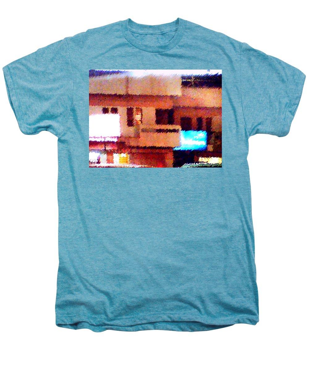 Digital Art Men's Premium T-Shirt featuring the painting Windows by Anil Nene