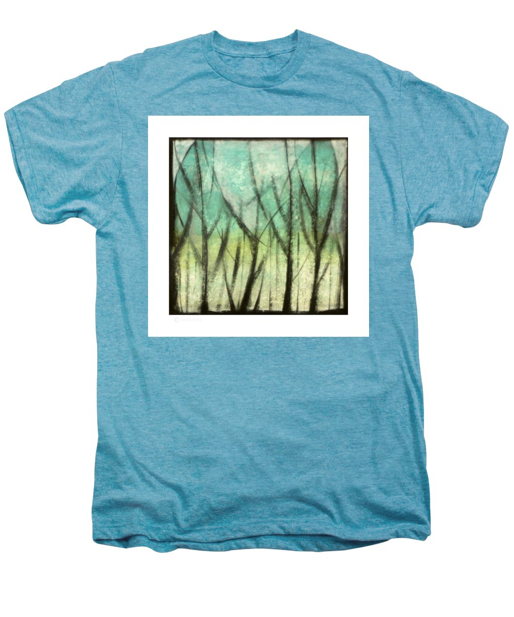 Trees Men's Premium T-Shirt featuring the painting Winter Into Spring by Tim Nyberg
