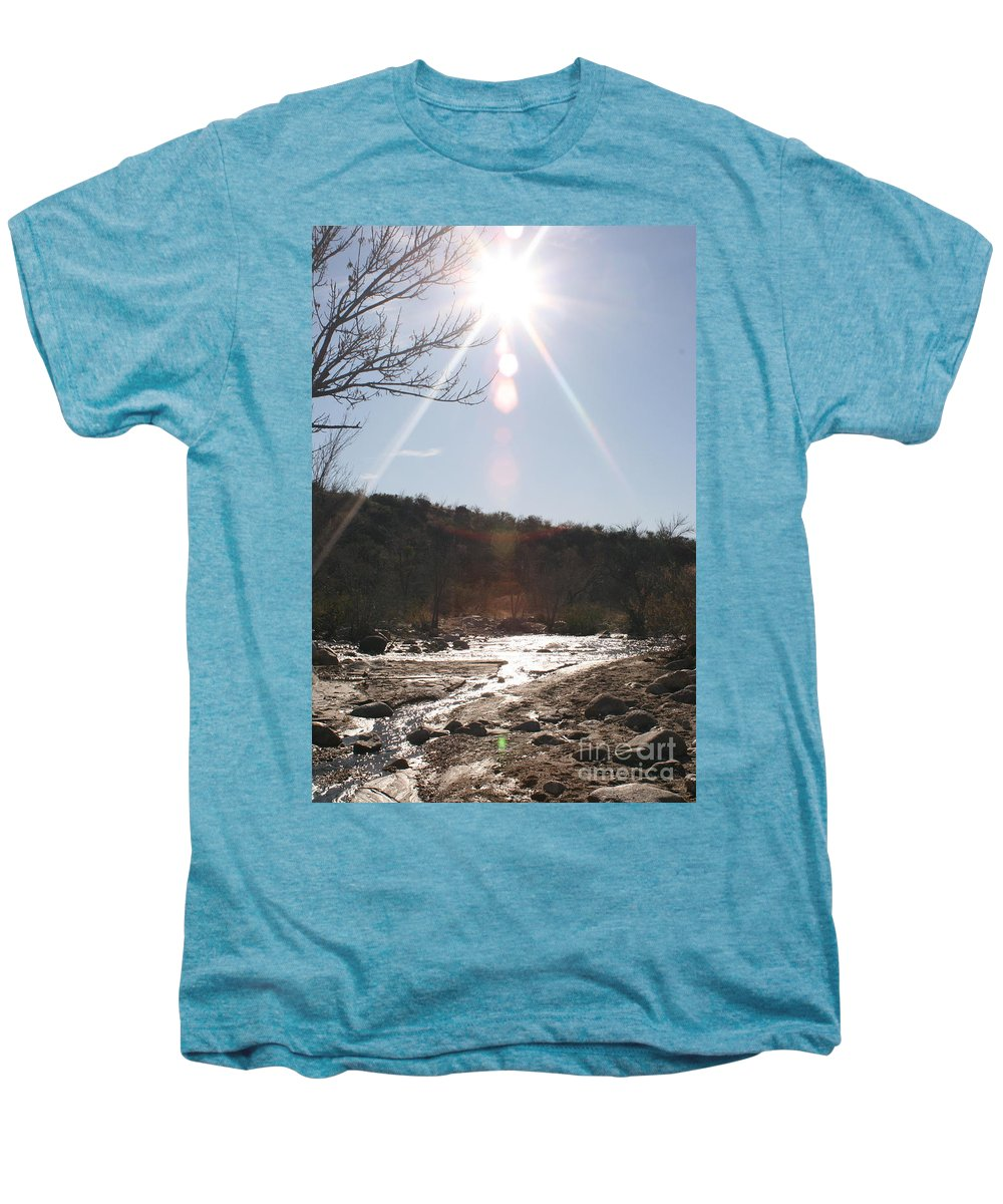 Winter Men's Premium T-Shirt featuring the photograph Winter Light by Nadine Rippelmeyer