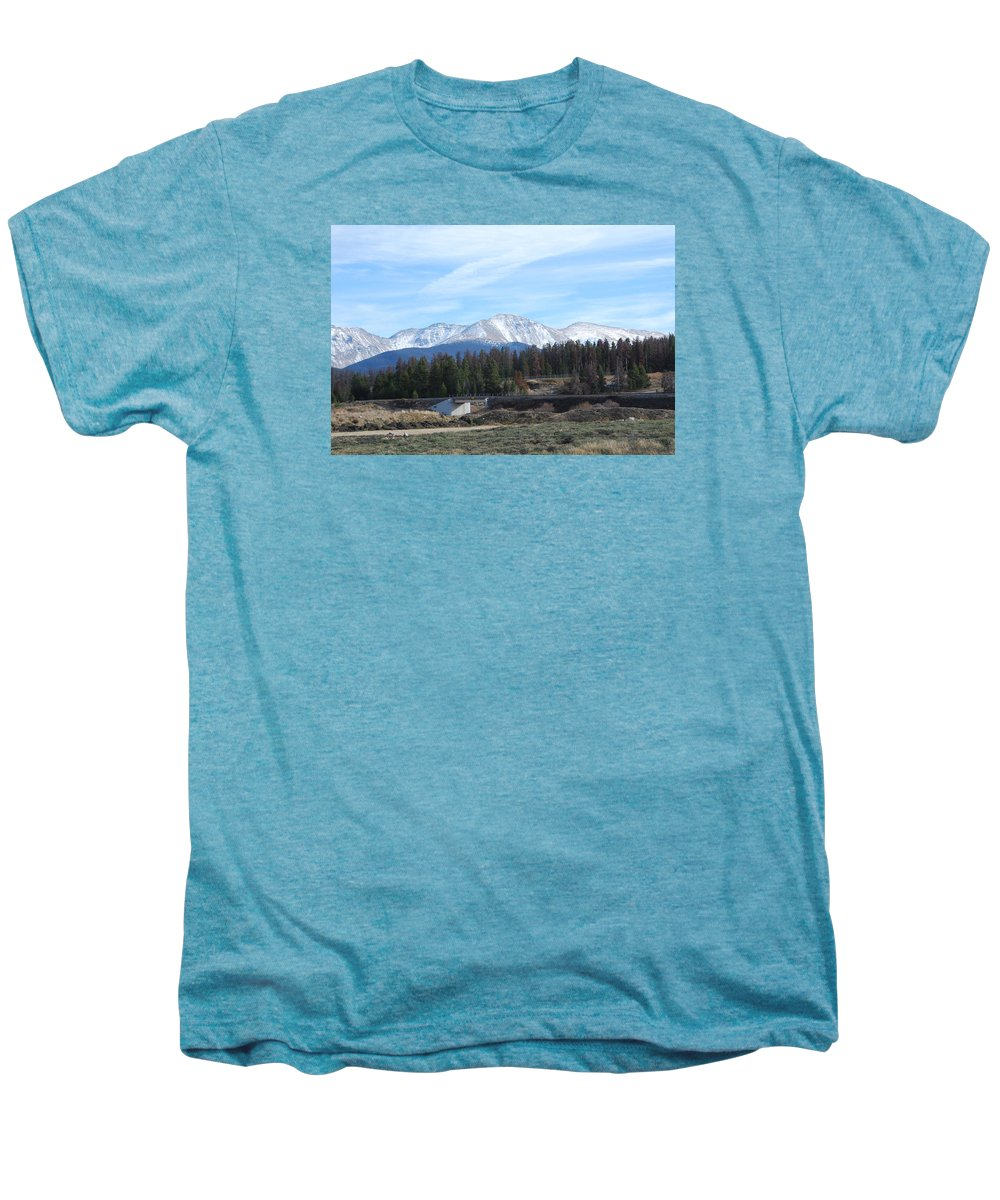 Colorado Men's Premium T-Shirt featuring the photograph Winter Park Colorado by Margaret Fortunato
