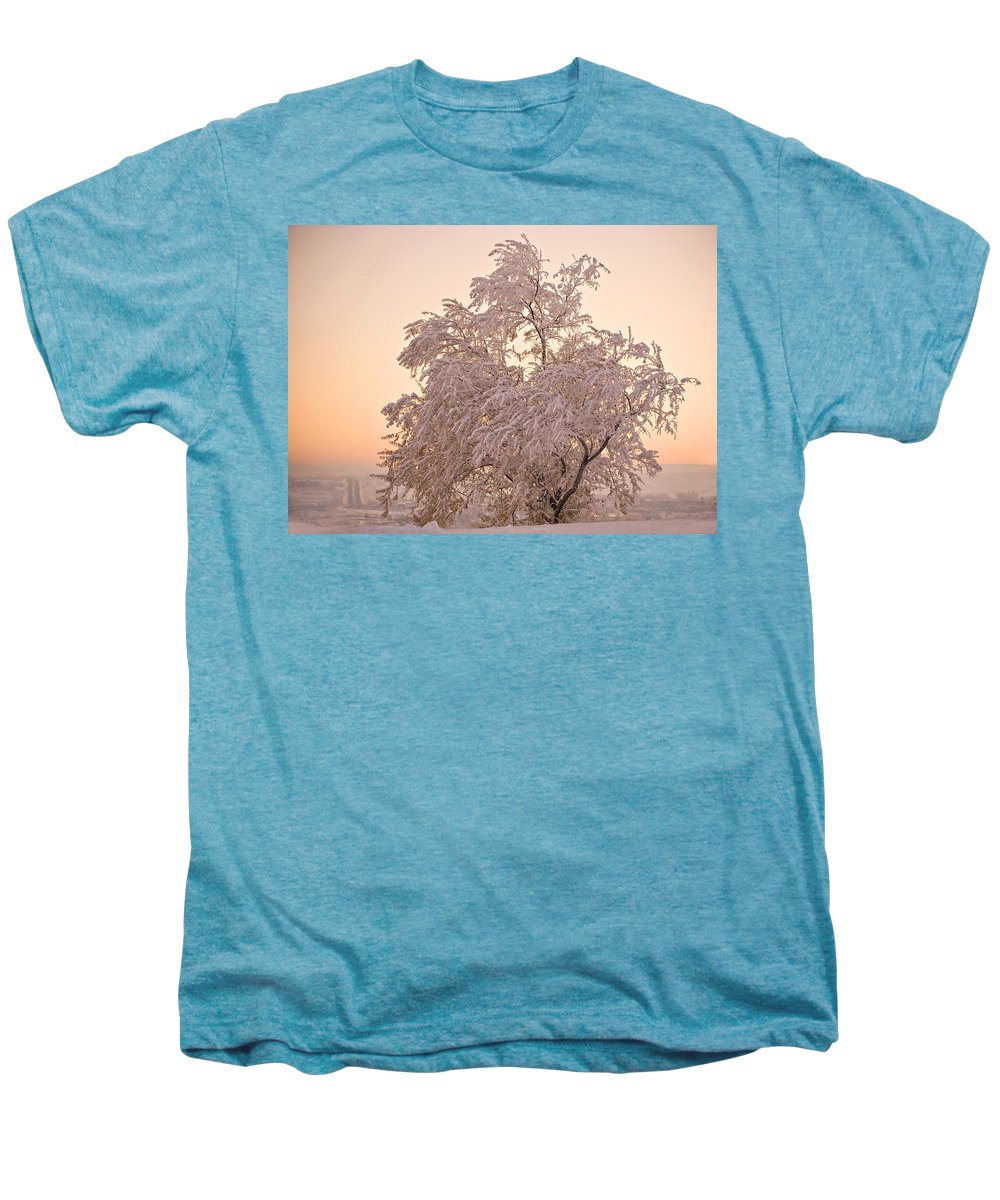 Winter Men's Premium T-Shirt featuring the photograph Winter Sunset by Marilyn Hunt