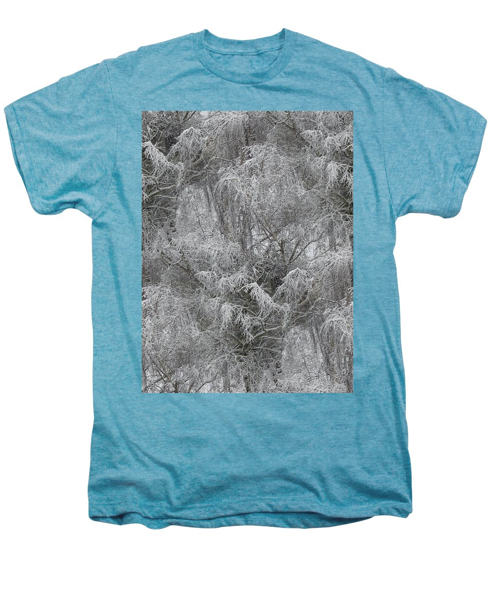 Winter Men's Premium T-Shirt featuring the photograph Winter Trees by Tim Allen