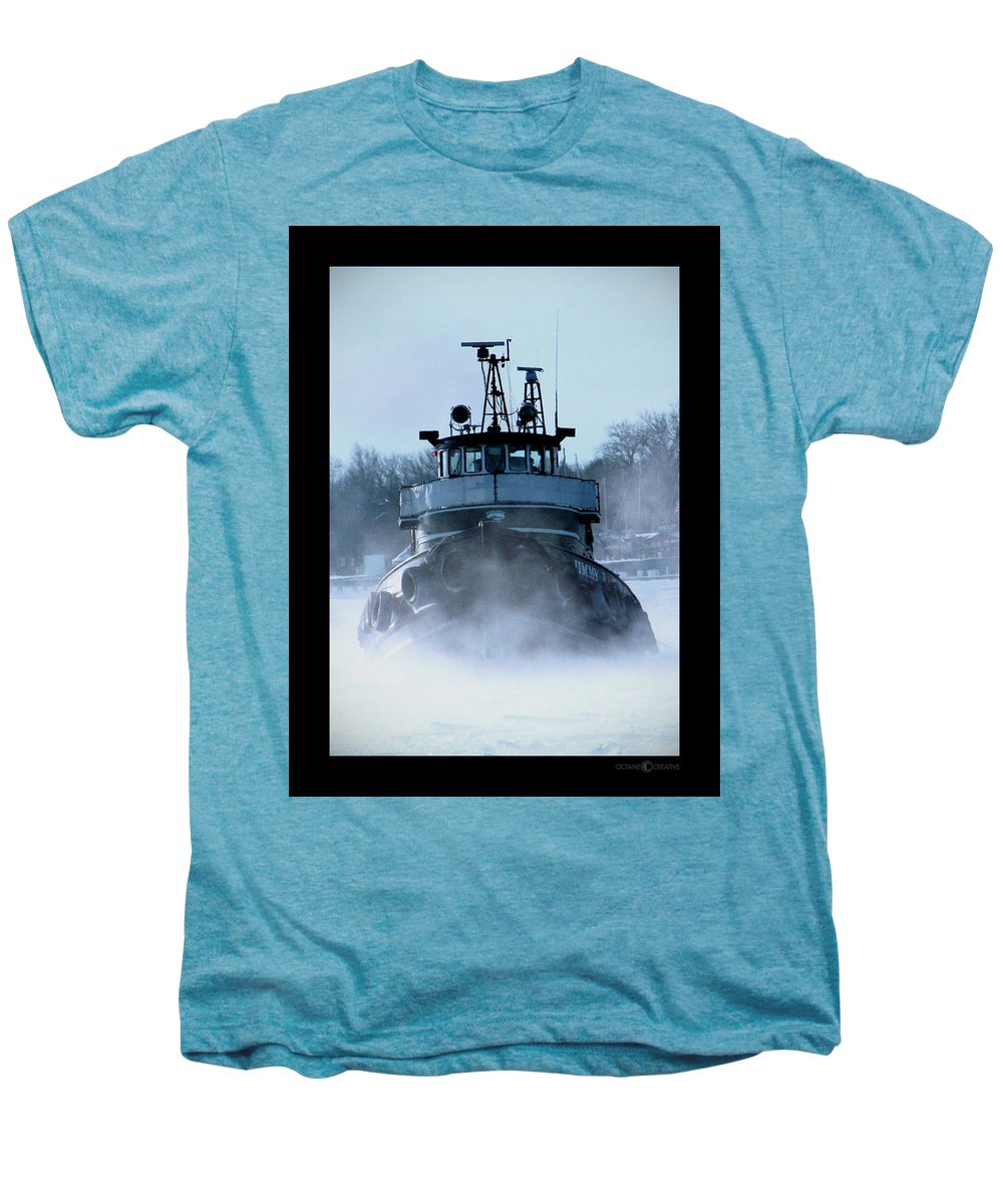 Tug Men's Premium T-Shirt featuring the photograph Winter Tug by Tim Nyberg