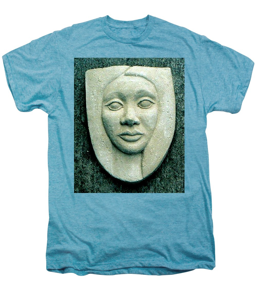 Relief Men's Premium T-Shirt featuring the relief Without Veils by Madalena Lobao-Tello